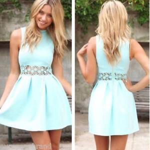 32a76dd897fd2 Image is loading UK-10-Women-Fashion-Trend-Sleeveless-Lace-Wasit-