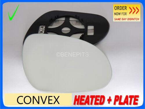 Para Hyundai i30 2007-2011 Lado Derecho Ala Climatizada Convexo Espejo Vidrio//JA019