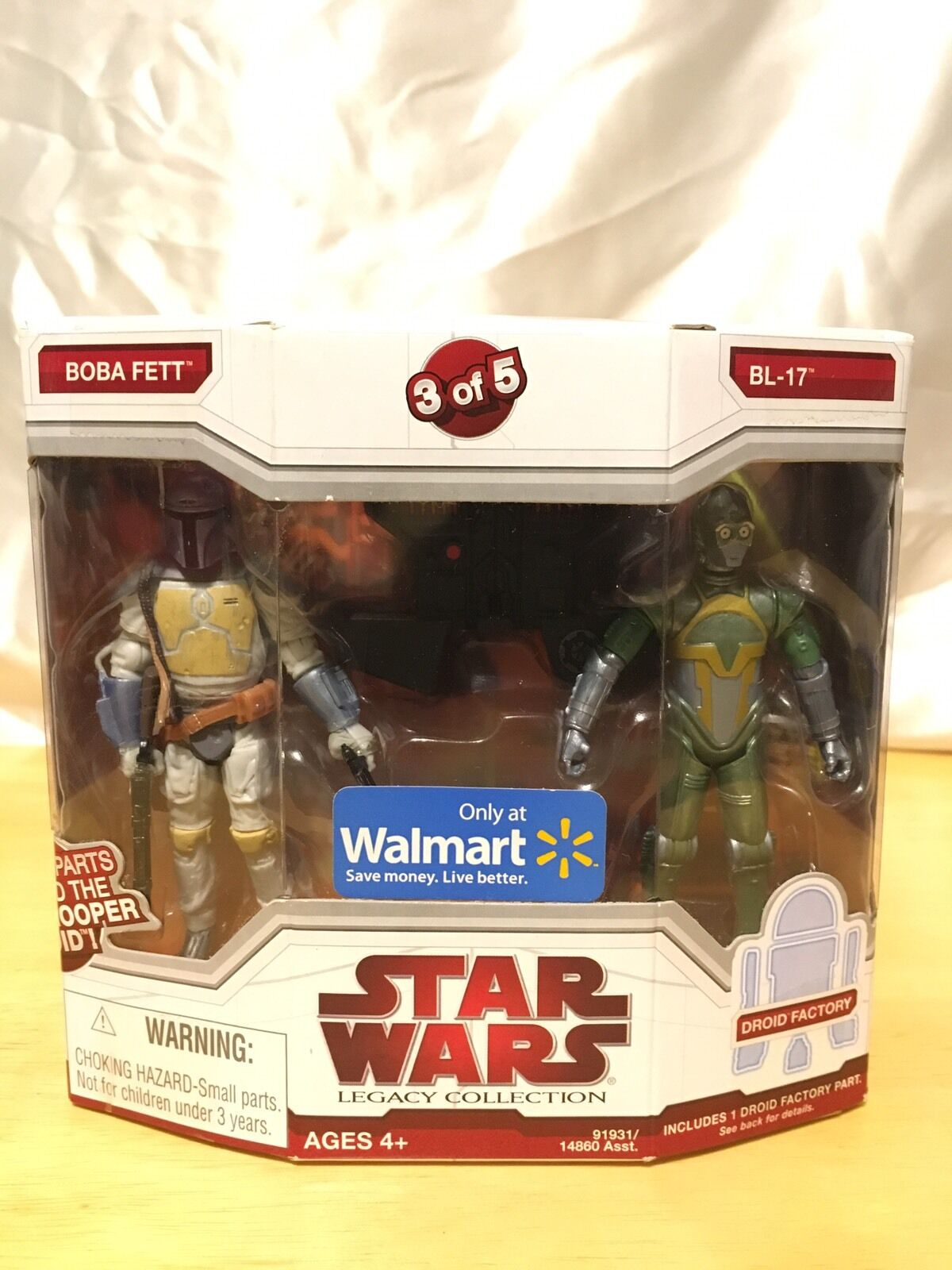Nuovo Boba Fett BL-17 Droid 3 of  5 estrella guerras Legacy Collection WALMART Exclusive  punto vendita