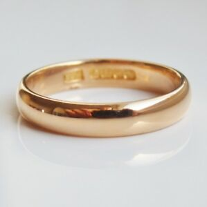 Fine Vintage 22ct Gold Wedding Band Ring c1936 UK Ring Size L eBay