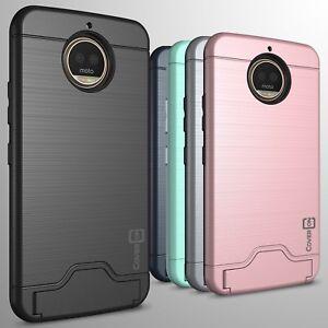 For Motorola Moto G5s Plus Phone Case Card Holder Kickstand Slim Cover Ebay