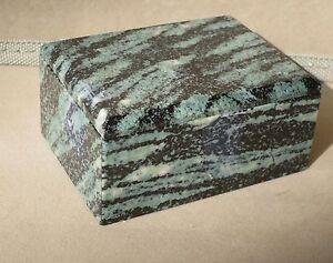 """Zebra Jasper Box- 3 1/4"""""""