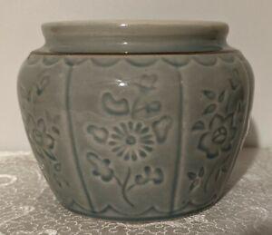 Ceramic Celadon Ginger Jar Pot - Planter - Brush Jar - Catch All