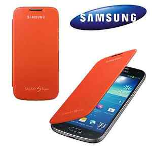 cheap for discount e2e89 8c57b Details about GENUINE Samsung Galaxy S4 MINI Original Flip Cover Case |  Orange EF-FI919BOEGWW