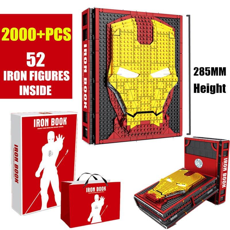 Marvel Avengers Iron Man 52 Figuras Colección Libro bloques de construcción ladrillos Juguetes