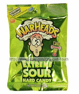 WARHEADS-2-oz-Bag-Hard-Candy-EXTREME-SOUR-Assorted-Flavors-CANDIES-Exp-7-21