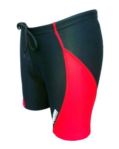 ZIMCO Women/'s Cycling Biking Cycle Short Bike Shorts Padded Black//Red ZM184