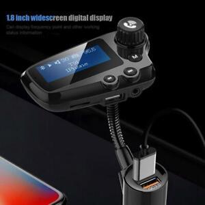 1-8-034-BT-5-0-Car-MP3-Player-FM-Transmitter-Radio-Handsfree-Dual-USB-Charger-Kit