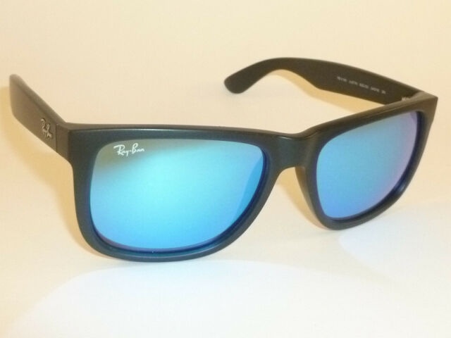 fc7316b369 ... polarized. frame color black 7454a d40d4  canada new ray ban justin  sunglasses matte black rubber rb 4165 622 55 blue mirror 54mm