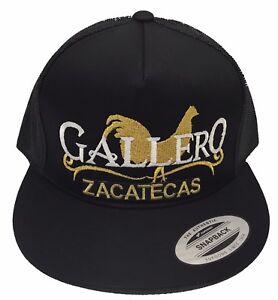 3c2dd99ae3e EL GALLERO DE ZACATECAS HAT BLACK MESH TRUCKER SNAPBACK LOGO FEDERAL ...