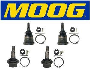 Moog 2 Upper /& 2 Lower Ball Joints 2010 Cadillac Escalade ESV K6540 K6541