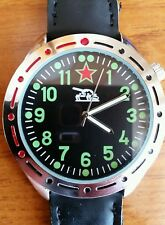 Russian Military Mens precision quartz watch 1980s replica retro tank commander