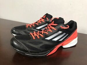 huge selection of 92929 06502 Image is loading Adidas-AdiZero-Feather-2-Black-Red-Training-Running-