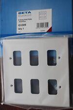 Deta Metal Clad 2 Module Grid Switch Front Plate G3322
