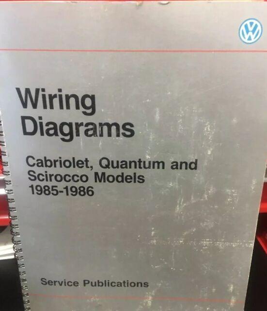 Vw Wiring Diagrams Cabriolet Quantum  Scirocco 1985