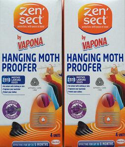 Radient 8 X Zensect Hanging Moth étuve Tueur Tissu Répulsif Lavande Freshener Nouveau-afficher Le Titre D'origine