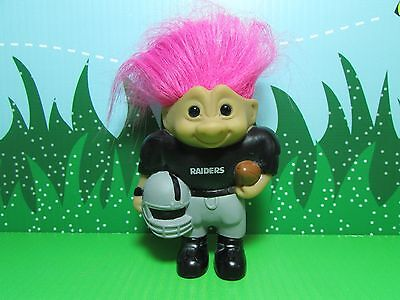 "Rare NEW 4/"" Ace Treasure Troll OAKLAND RAIDERS NFL GOOD LUCK SPORTS TROLL"