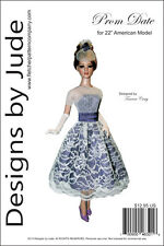 """Prom Date Doll Clothes Sewing Pattern for 22"""" American Model Dolls Tonner"""