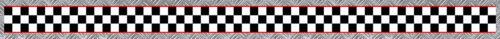FILETS ROUGE 55cmX3,4cm MOTO CASQUE AUTOCOLLANT STICKER BA195 BANDE DAMIERS