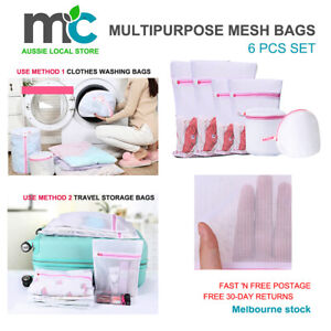 Washing Bag Pack Set Of 6 Laundry Bags Mesh Lingerie Delicate clothes Wash Bags