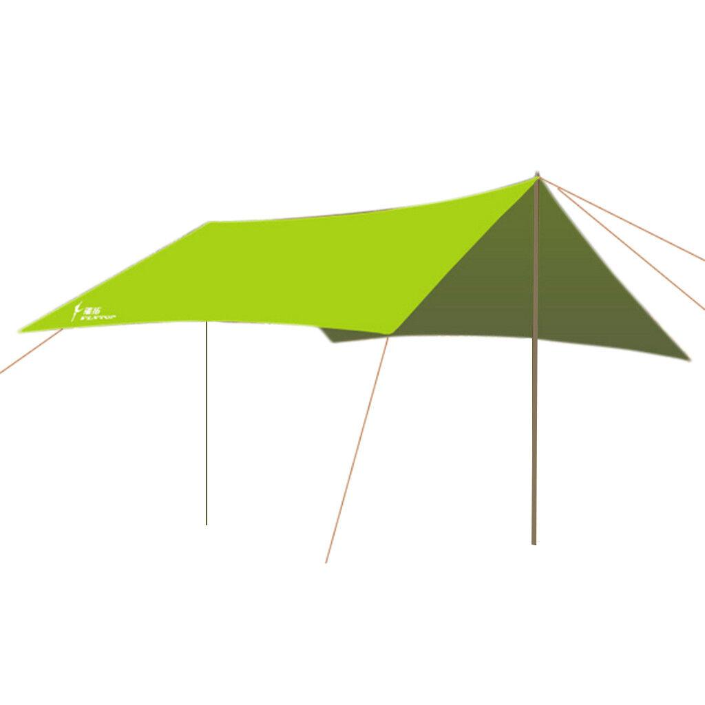 OUTDOOR CAMPING TENT COVER TARP SHADE OUTDOOR HIKING SUN RAIN SHELTER GREEN