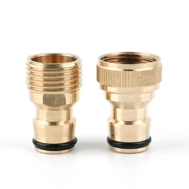 "2 Type 1/2"" 3/4"" Tap To Garden Hose Pipe Brass Connector Kitchen Tap Adapter New"