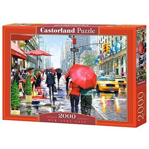 NEW YORK CAFE 2000 pièces-Castorland Puzzle CAF Puzzle 2000 pièces Multicolore