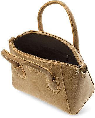 Damentasche City - Tasche Bowlingbag Umhängetasche Nubuck - Optik
