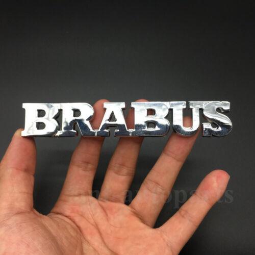 2x Metal BRABUS Logo Car Emblem Badge Decal Sticker Badge