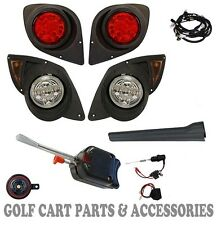 Yamaha G29 DRIVE Golf Cart LED Headlight & Tail light Kit Deluxe Street Package