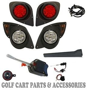 Yamaha G29 DRIVE Golf Cart LED Headlight & Tail light Kit Deluxe Street Package