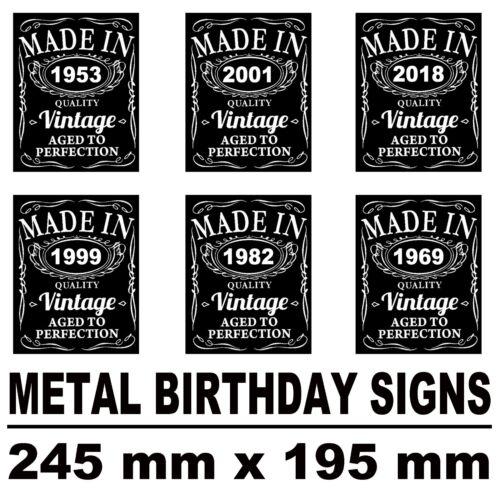 birthday personalised metal steel sign