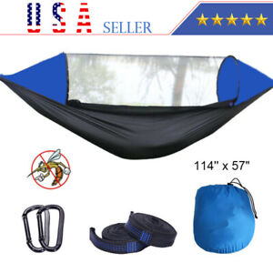 Portable Windproof 2 Person Tent Camping Hammock Bed Mosquito Net Rain Sun Cover