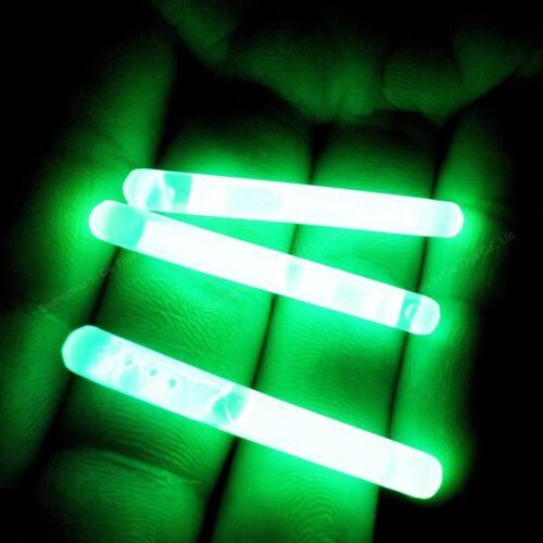 """parties Mini Glow Sticks 1.5/"""" vert fluo idéal pour la pêche Camping ou de survie"""