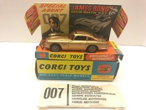 CORGI 261 JAMES BOND ASTON MARTIN DB5 STUNNING, COMPLETE MINTY ALL ORIGINAL!
