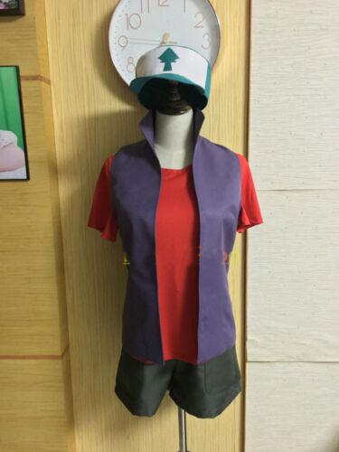 Custom Made Gravity Falls Dipper Uniforme Costume Avec Chapeau Cosplay Costume nouveau