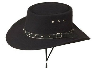 Western Paso Fino San Jose Gambler Hat, Black Faux Felt, Made in Mexico