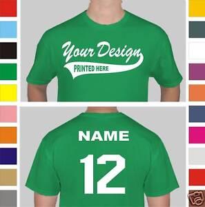 Image Is Loading 12 Custom Screen Printed Baseball Team T Shirts