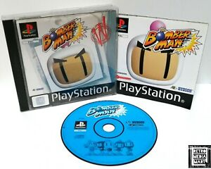 Bomberman-Sony-Playstation-ps1-Black-Label-Spiel-PAL-sehr-gut-komplett