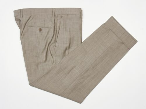 Mens BELLA SPALLA Pants 36x30 in Taupe Beige Tick
