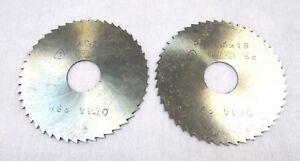 2x Métal Lame De Scie Circulaire Hss Ø50 X 0,6 X 48 X 13 Von Werkö Neuf A4080 Zkywsl30-07231914-274340738