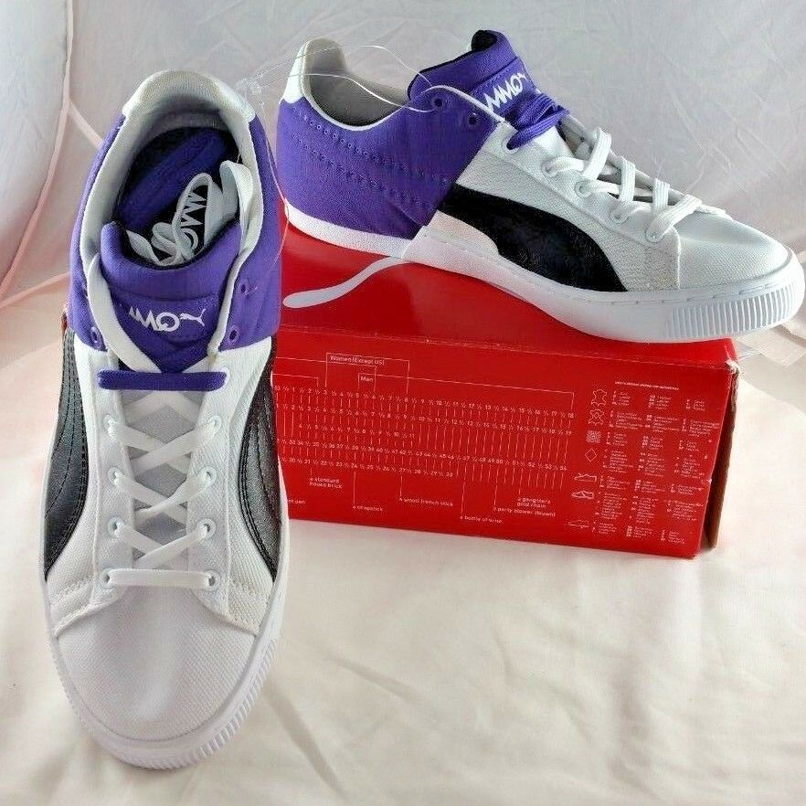 Puma Retro 90 Sneakers White black 8.5 Prism Violet Mens Sz 8.5 black () New with Box 999fca