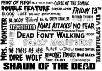 Horror Fonts Collection Cdrom - Over 460+ Horror Fonts