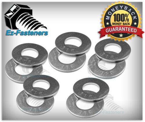 316 Stainless Steel Flat Washer 1//2 ID x 1.062 OD Qty 25 pcs Pack