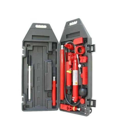 10 Ton Hydraulic Hand Pump Hydraulic Porta Power Auto Body Frame Repair Kit