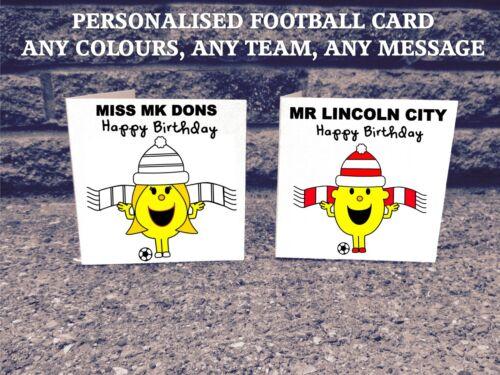 League 2 Personalised Any Football Team Birthday Card