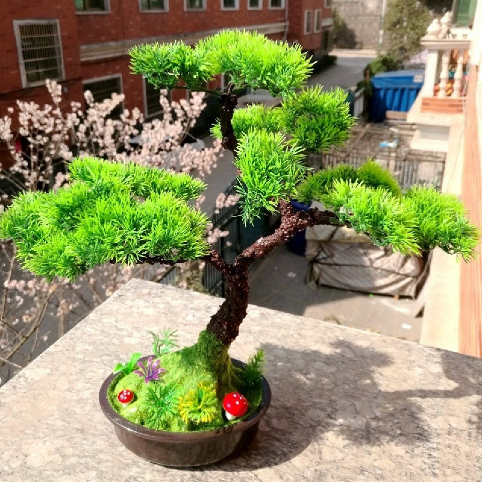 1pc Welcoming Pine Emulate Bonsai Simulation Decorative Artificial Flowers Tree
