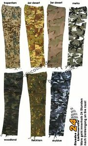 US-Pant-Hose-woodland-metro-camouflage-XS-XXL-Cargo