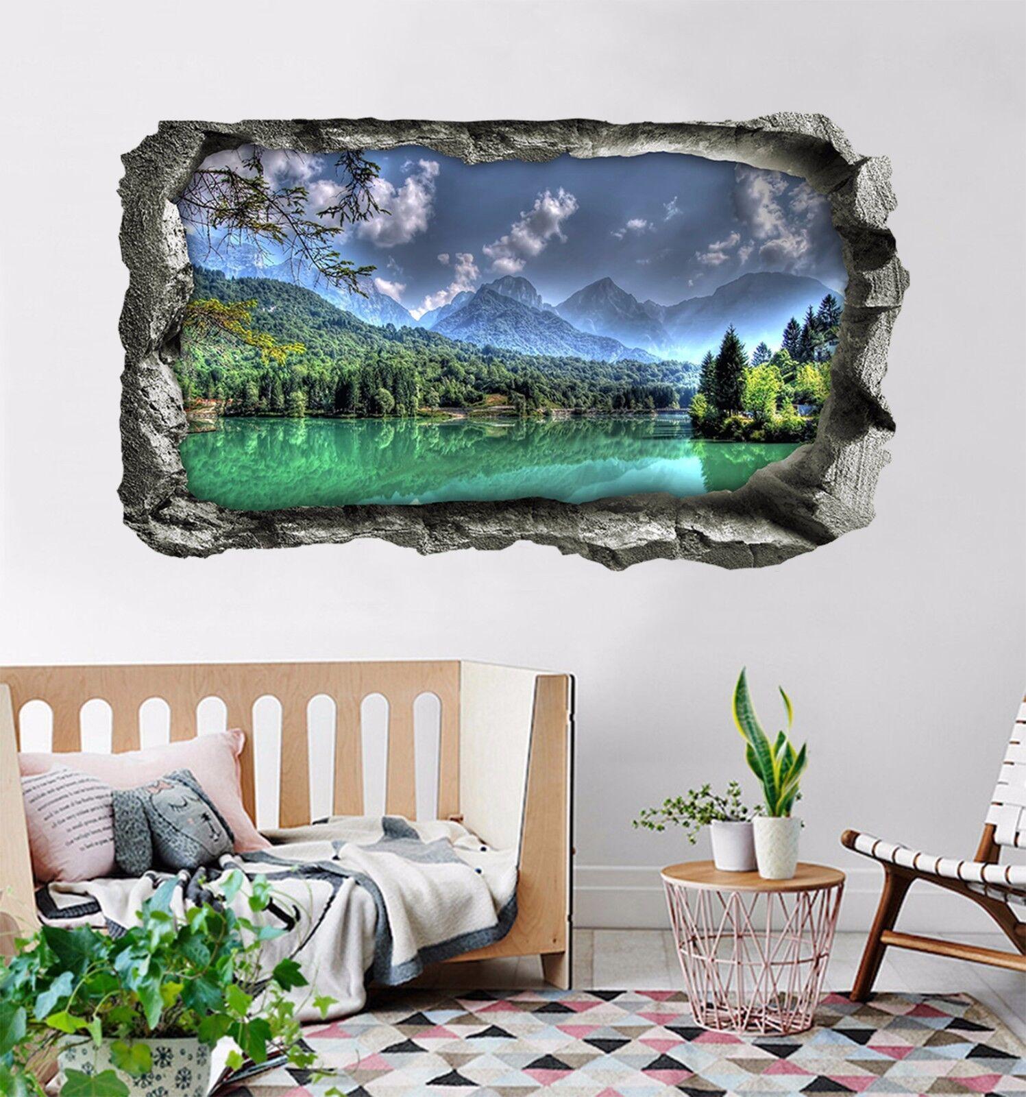 3D Green River 8764 Mauer Murals Mauer Aufklebe Decal Durchbruch AJ WALLPAPER DE