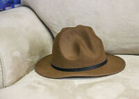 Mountie Hat Genuine Buffalo Leather Band Wool Top Hat Premium Quality Party On